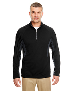 Adult Cool & Dry Color Block Dimple Mesh 1/4-Zip Pullover