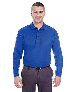 Adult Long-Sleeve Whisper Pique Polo