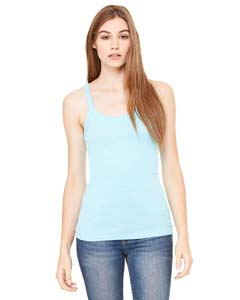 Ladies  4 oz. Longer Length Sheer Rib Tank