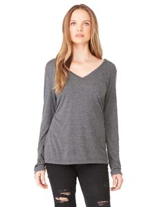 Ladies Long-Sleeve Flowy V-Neck
