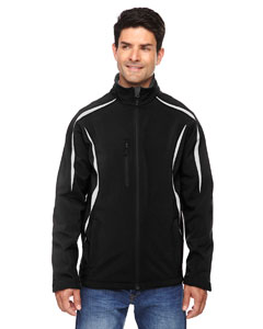 Enzo Men's Color-Block Soft Shel`Jacket