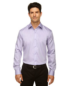 BOULEVARD Men's Wrinkle-Free 2-Ply 80's Cotton Dobby Taped Shirt