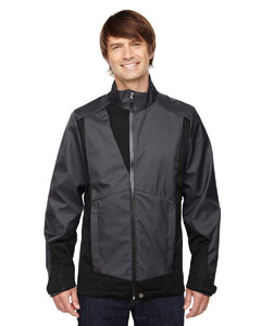 COMMUTE MEN'S 3-LAYER LIGHT BONDED TWO-TONE SOFT SHEL@JACKET
