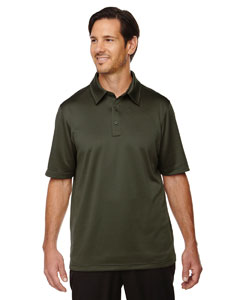 Exhilarate Men's Coffee Charcoa`Performance Polos with Pocket