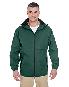 Adult Microfiber Full-Zip Hooded Jacket