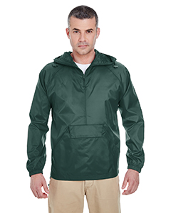 Adult 1/4-Zip Hooded Pullover Pack-Away Jacket