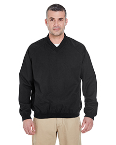 Adult Long-Sleeve Microfiber Crossover V-Neck Windshirt