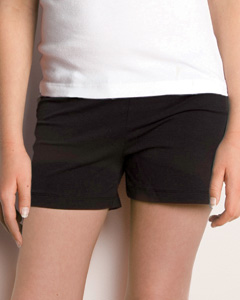 Girls  7 oz. Cotton/Spandex Fitness Short