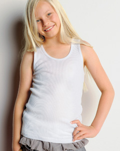 Girls  5.8 oz. 2x1 Rib Tank
