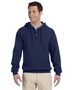 8 oz. NuBlend® 50/50 Fleece Quarter-Zip Pullover Hood