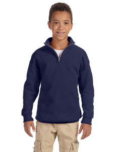 Youth 8 oz. 50/50 NuBlend® Quarter-Zip Cadet Collar Sweatsh