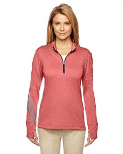 Ladies Brushed Terry Heather Quarter-Zip