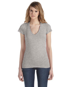 Ladies  3.5 oz. Short-Sleeve V-Neck