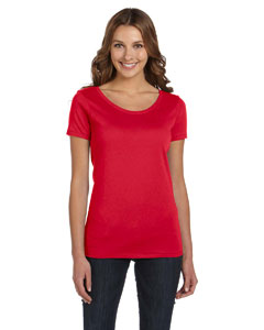 Ladies  3.5 oz. Organic Scoop Neck