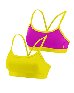 Ladies Wicking Poly/Span Reversible Bra