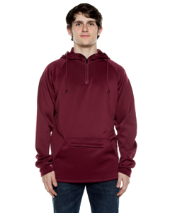 Unisex 9 oz. Polyester Air Layer Tech Quarter-Zip Hooded Sweatsh