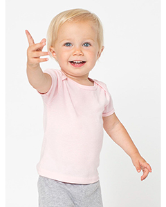 Infant Baby Rib Short-Sleeve Lap T-Shirt
