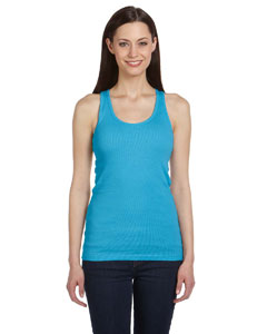 Ladies  5.8 oz. 2x1 Rib Racerback Longer-Length Tank