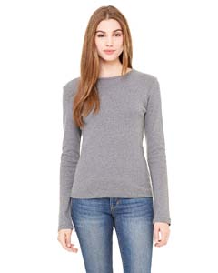 Ladies  5.8 oz. 1x1 Baby Rib Long-Sleeve Crew Neck T-Shirt