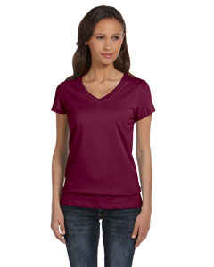 Ladies  4.2 oz. Short-Sleeve V-Neck T-Shirt