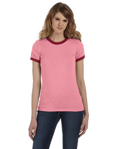 Ladies  4.2 oz. Short-Sleeve Heather Jersey Ringer