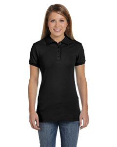 Ladies  5.6 oz. Cotton/Spandex Mini Pique Polo