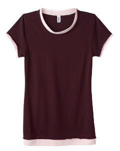 Ladies  3.2 oz. Sheer Jersey 2-in-1 T-Shirt
