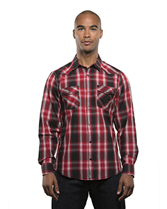 Men\'s Long-Sleeve Western Plaid Shirt