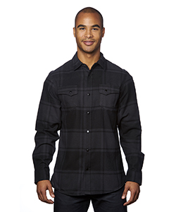Men\'s Snap-Front Flannel Shirt