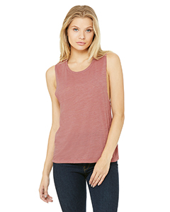 Ladies Flowy Scoop Muscle T-Shirt