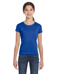 Girls  5.8 oz. 1x1 Baby Rib Short-Sleeve Crew Neck T-Shirt