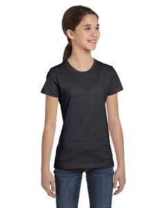 Girls  4.2 oz. Fine Jersey Short-Sleeve Crew Neck T-Shirt