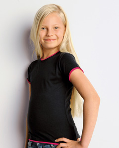 Girls  4.2 oz. Short-Sleeve Jersey 2-in-1 T-Shirt