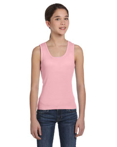 Girls  5.8 oz. 1x1 Baby Rib Wide Strap Tank