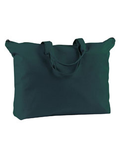 12 oz. Canvas Zippered Book Tote