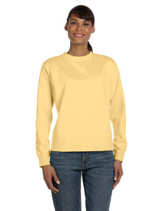Ladies  10 oz. Garment-Dyed Wide-Band Fleece Crew