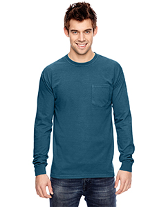 6.1 oz. Garment-Dyed Long-Sleeve Pocket T-Shirt