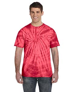 Adult 5.4 oz., 100% Cotton Tie-Dyed T-Shirt - Spider