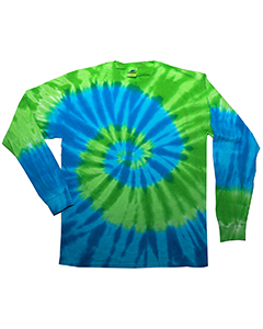 5.4 oz. 100% Cotton Long-Sleeve Tie-Dyed T-Shirt