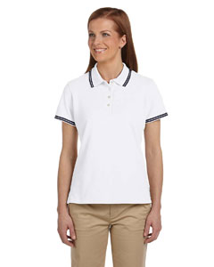 Ladies  Tipped Performance Plus Pique Polo