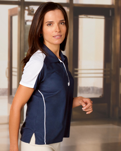 Ladies  Piped Technica`Performance Polo
