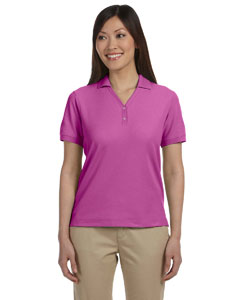 Ladies  Pima Pique Short-Sleeve Y-Collar Polo