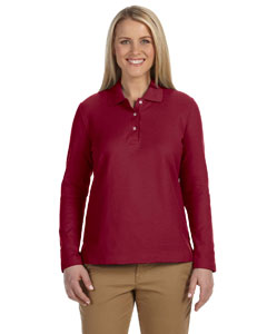 Ladies  Pima Pique Long-Sleeve Polo