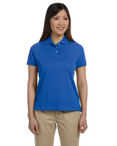 Ladies  Solid Perfect Pima Interlock Polo
