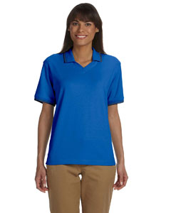 Ladies  Tipped Perfect Pima Interlock Polo