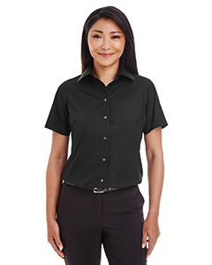 Ladies' Crown Collection™ Solid Broadcloth Short-Sleeve Sh