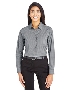 Ladies' CrownLux Performance™ Tonal Mini Check Shirt