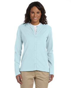 Ladies  Stretch Jersey Long-Sleeve Cardigan