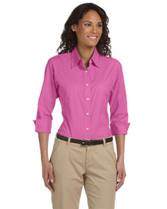 Ladies  Three-Quarter-Sleeve Stretch Poplin Blouse
