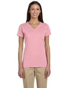 Ladies 4.4 oz. 100% Organic Cotton Short-Sleeve V-Neck T-Shirt